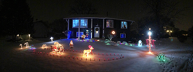 Christmas Runway Lights.And The Best Decorated Christmas House For 2017 Is