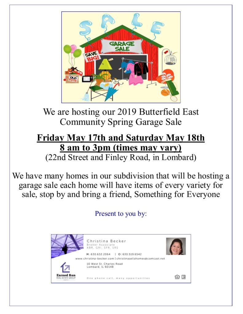 2019 Butterfield East Community Spring Garage Sale